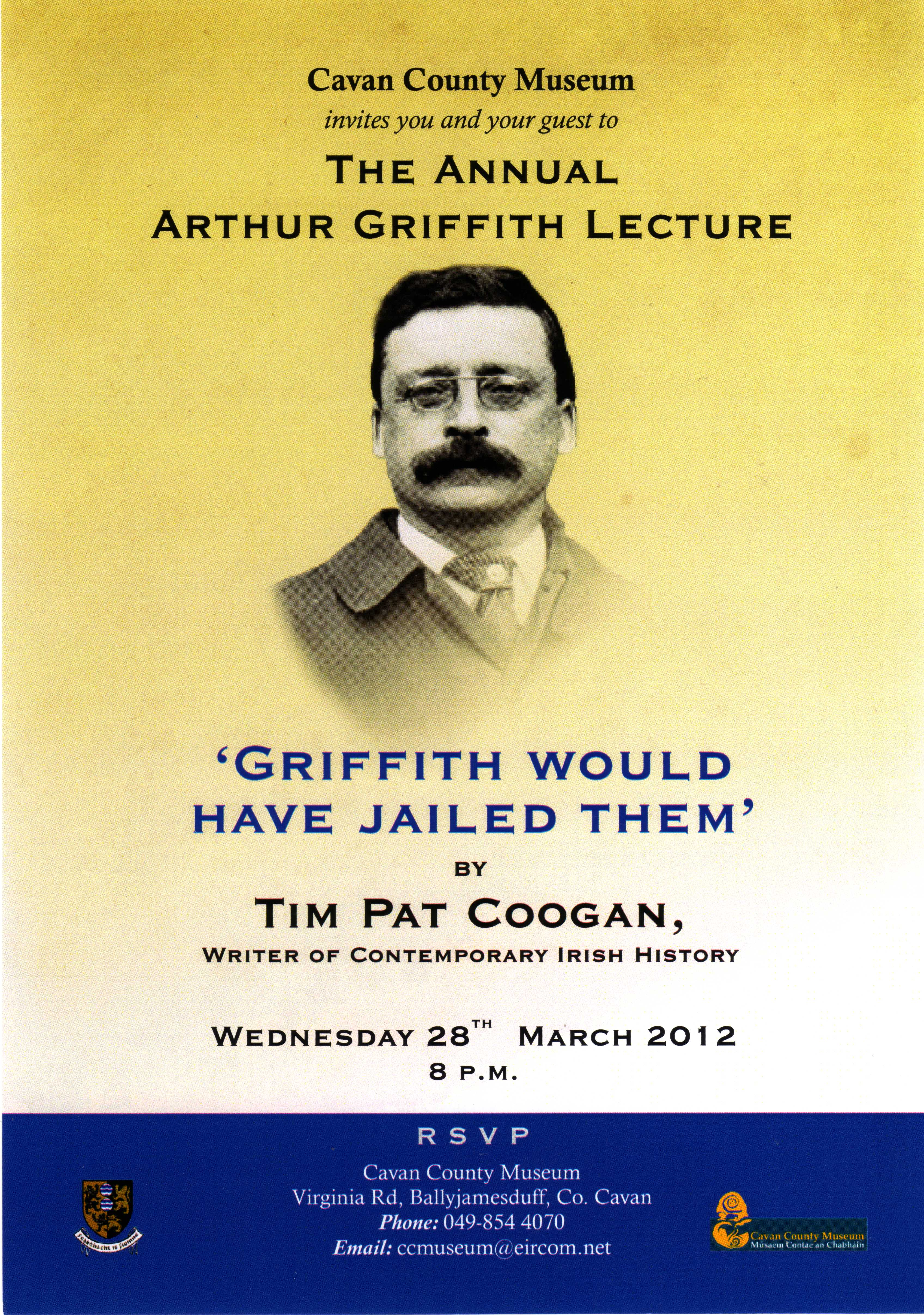 annual arthur griffith lecture with tim pat coogan